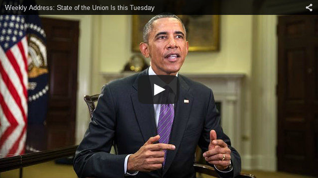 Weekly Address: State of the Union Is This Tuesday