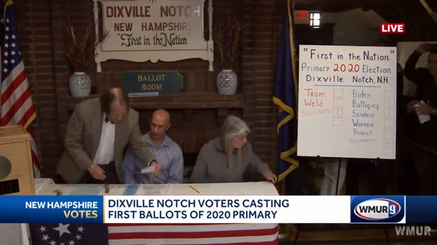 Bloomberg Takes The Democratic & Republican Races in Dixville Notch